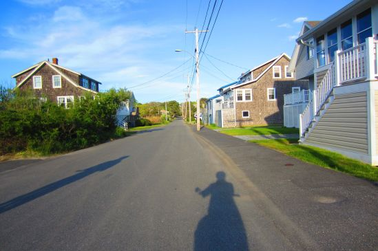 This was the last time Silver Beach Road would be quiet until October. As we were leaving, the tourists were already gumming up the bridge.
