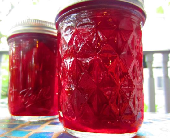 Pickled beets, at the scene of its improbable triumph: the great outdoors. Later, we will try hiking. No, we will not. We will not try that with glass.